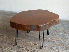 Exklusiver Coffee Table Baumscheibe Holz Tisch Beistelltisch Auböck Ära 50er 50s