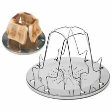 4 Slice Camping Bread Toast Tray Gas Stoves Cooker BBQ Camping Toaster Rack F6F1