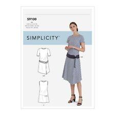 Simplicity R10505 Drop Waist Dress & Hip Belt Sz 10-18, Plus 20W-28W UNCUT S9100