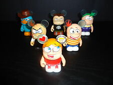 "DISNEY 3"" VINYLMATION PHINEAS AND FERB COMPLETE SET OF 6 FIGURES"