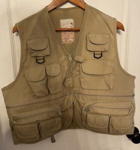 Master Sportsman Rugged Outdoor Gear Fishing Vest Kahki Men's Size Large/XL(?)
