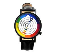 Color / Colour Wheel Watch - The Wristwatch For Colourists, Painters, Interior D