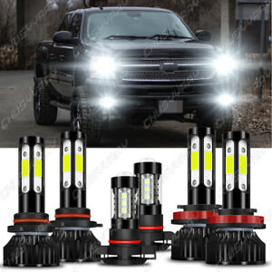 for Chevy Silverado 1500 2500HD 2007 - 2015 6000K LED Headlights + Fog Bulbs Kit