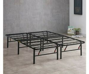 Platform King Size Bed Frame  Mattress Foundation Heavy Duty Metal Steel