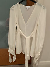 alice mccall Ivory Sheer Silk V Neck Top Size 6 Worn Twice $99