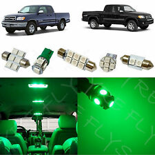 7x Green LED lights interior package kit for 2000-2004 Toyota Tundra TT2G