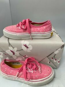 Vans Crayola, Pink /White Speckled , Lace Up Shoes, Size UK-10 K #KW