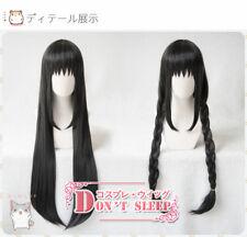 Anime Puella Magi Madoka Magica Akemi Homura Cosplay Black Full Wig Long Hair