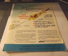 Vintage Gurling Spinner Fishing Lure Flyer Advertising 1955 /56