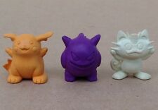 Pokemon eraser figure lot 1999 Nintendo small Gengar Meowth Raichu rubber vinyl