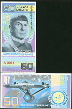 STAR TREK UNITED FEDERATION OF PLANETS 50 CREDITS MR. SPOCK FANTASY ART NOTE!