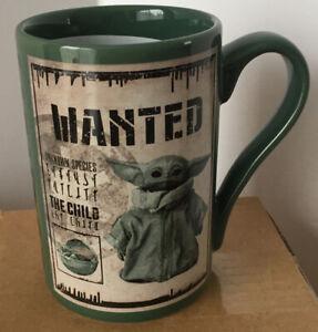 Disney Store Grogu Mug Star Wars The Mandalorian Wanted Baby Yoda New Coffee Cup