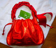 ULTRA RARE KATE SPADE NEW YORK SMALL Andalucia RED METALLIC Mini Plie CLUTCH BAG