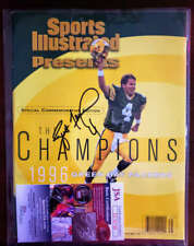 Brett Favre Jsa Autograph  1996 Packers Si Super Bowl Hand Signed Packers