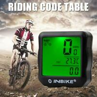 INBIKE Wired Bike Computer MTB Backlight Speedometer Odometer Stopwatch