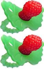 RaZbaby RaZ-Berry Silicone Teether - Multi-texture Design - Red - 2 Count
