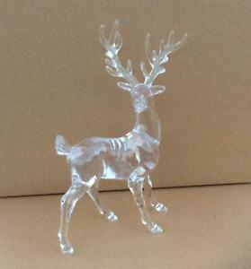 Pair 18cm Acrylic Reindeer's Christmas Decorations / Figures OFFER!