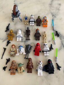 LOT DE 20 MINI FIGURINES LEGO STAR WARS AVEC RARE