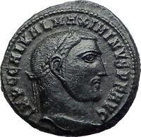 MAXIMINUS II Daia 311AD Follis Ancient Roman Coin JUPITER w Victory i73193