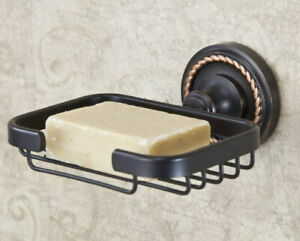 Black Oil Rubbed Brass Wall Mounted Bathroom Soap Dish Holder Accessories 2ba216