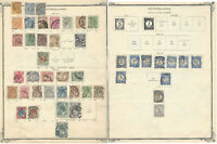 1890's NETHERLANDS STAMP COLLECTION HIGH VALUE ALBUM PAGE