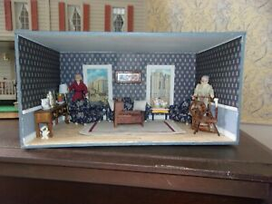 Sweet Room Box / Diorama with Vintage Furniture