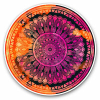 2 x Vinyl Stickers 7.5cm - Abstract Mandala Sunset Fun Cool Gift #2713
