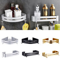 Bathroom Bath Shower Corner Shelf Caddy Rack Holder Basket Wall Mounted Storage
