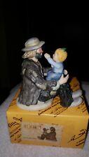"""Emmett Kelly Jr. Miniature 10013 """"The Emmetts Fan"""""""