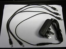9V Power Supply Boss BF2B CE20 ODB-3 OS-2 DS-2 Pedal Adapter 5 Way Daisy Chain