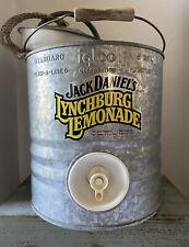 Vintage Jack Daniels Lynchburg Lemonade Galvanized Cooler Dispenser 2 Gal