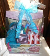 GIFT BASKET IN A FLORAL STORAGE BOX FOR ANY OCCASION