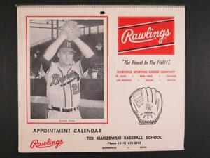 1964 Warren Spahn Braves Rawlings Baseball Calendar