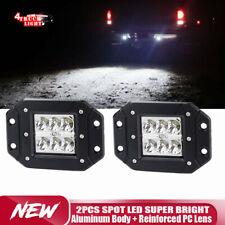 2Pcs Spot Dual Flush Mount 36W LED Pod Lights Truck For Jeep Off-Road ATV