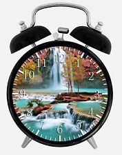 "Water Falls Alarm Desk Clock 3.75"" Home or Office Decor W105 Nice For Gifts"