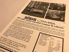 SISIS Sports Ground Litamisa Tractor Mounted Sweeper Original 1978 Brochure