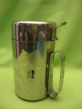 """HOSPITAL CUP FOR BED PATIENT- 6"""" TALL, 3"""" IN DIAMETER- STAINLESS - MADE IN ITALY"""