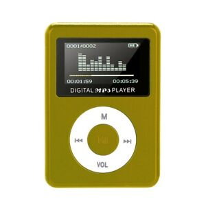 Mini USB Metal Clip MP3 Player LCD Screen Support 32GB Micro SD TF Card Slot