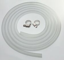 3/8 x 1/2 inch Silicone Tubing Food Grade with Stainless Worm Gear Hose Clamps