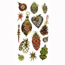 Metallic Ornaments Christmas Golden Foil GORGEOUS Jolee's 3D Stickers