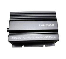 APS 2CH 500W 12V USB Play Mini AMP MP3 Car Motorcycle Amplifier AMZ-2100-U