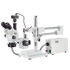 3.5X-45X Simul-Focal Stereo Zoom Microscope + Fiber Optic Ring Light + 1.3MP Cam