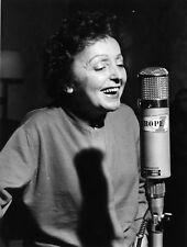 Photo originale Edith Piaf studio Europe1 1961