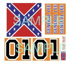 Mego General Lee plastic car restoration decals
