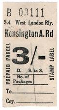 (I.B) West London Railway : Parcel Stamp 3/- (Addison Road)