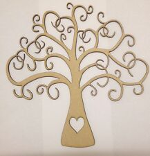 Wooden Family Tree 25cm X 25cm  Craft Shape Buy 2 Get 3rd Free