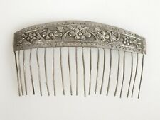 Vintage Chinese Silver Hair Comb   - 58684