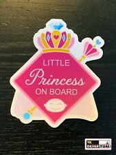 "Baby on board (Little princess - girl) car safety sticker (4.3"" x 4.9"")"