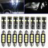 22/Set For BMW E46 3 SERIES INTERIOR UPGRADE KIT XENON WHITE LED LIGHT 6000K
