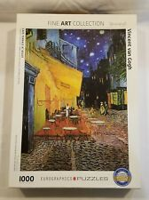 CAFE TERRACE AT NIGHT VINCENT VANGOGH 1000 PC JIGSAW PUZZLE COMPLETE EUROGRAPHIC